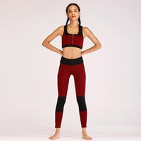 022ac32864 Patchwork Sport Suit Zipper Yoga Set Quick Dry Sports Wear For Women Gym  Clothing Jogging Suits For Women Fitness Tracksuit 2018