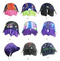Wholesale Wood Space - 80*230cm Kids Dream Tents Folding Type Unicorn Moon White Clouds Cosmic Space Baby Mosquito Net toy tents Without Night Light 35pcs