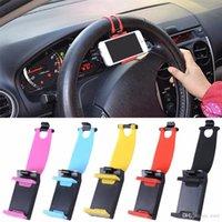 ingrosso supporto del telefono universale del volante-Supporto universale per supporto da auto con clip a forma di volante per cellulare Supporto per auto GPS per telefoni intelligenti 50-80mm BBA130