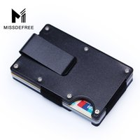 Wholesale cheap barrels - RFID Metal Mini Slim Wallet Money Clip Fashion Business Credit Card ID Holder With Anti-Chief Case Protector Cheap