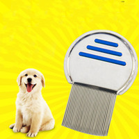 Wholesale dogs cats for free online - Terminator Lice Comb Nit Free Kids Hair Rid Headlice Superdensity Stainless Steel Metal Flea Remove Brush For Pet Dog Cat ht Z