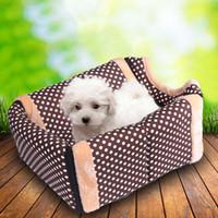 дом собаки оптовых-2018 S/M/L собака кровать Pet House складной мягкий Pet гнездо теплый Pet сумка для переноски осень и зима стиль питомник для Cat щенок