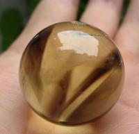 цитриновая лента оптовых-Естественный Закоптелый Фантом шара сферы кварца цитрина кристаллический черный соединенный