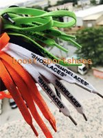 Wholesale family fabrics - SHOELACES cheap low black green orange Custom 4 color off shoes shoelace laces fashion designer shoe lace Length 1-1.2m