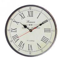 антикварный декор в деревенском стиле оптовых-Maizhelun античные Часы настенные деревенский винтажный стиль деревянные круглые часы искусство Home Decor 34 см диаметр