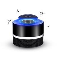 led lamba sivrisinek toptan satış-Elektronik Sivrisinek Katili Lamba Kapalı Bug Zapper, böcek Killer USB Powered LED Sivrisinek Zapper Lamba ile inşa Fan Sivrisinek Catcher Tuzak