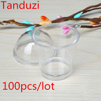 Wholesale alloy deco resale online - with Tanduzi s Lids Cute Round Tiramisu Mousse Clear Cup With Cover Artificial Parfait Cup DIY Deco Parts