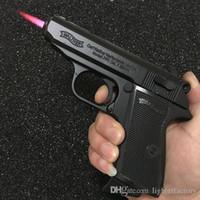 military props 도매-대형 금속 권총 64 PKK 브라우닝 군사 모델 총 금속 라이터 방풍 1 : 1 금속 리볼버 유형 건 라이터.
