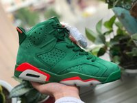 Wholesale Used Leather Shoes - Use DHL Shipping Air Retro 6 NRG Gatorade Green Suede Mens Basketball Shoes Sneakers For Men J6 J6s Authentic Quality With Original Box