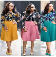 xl xxxl tamanho vestido venda por atacado-Novo estilo de roupas femininas Africano Dashiki moda Imprimir pano vestido tamanho L XL XXL XXXL FH224