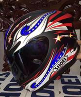 Wholesale Ece Motorcycle Full Face Helmet - SHOEI X12 motorcycle helmet full helmet American flag glory big eyes. Capacete ECE approved,Capacete