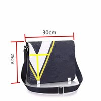 Wholesale Leather Document Bags - 2017 New Genuine Leather Bags Crossbody Messenger Bag Leather Office Bags for Men Document Briefcase Travel Bags + Dust bag
