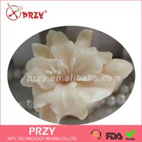 Wholesale aroma decoration - Silicone mold handmade lily shape flower mould chocolate soap molds for cake decorations clay molds aroma stone moulds