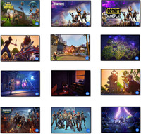 Wholesale black art paintings - Fortnite Battle Royale Game Poster Wall Painting Posters And Prints Canvas Art Wall Pictures Game Poster DDA602 Wall Stickers