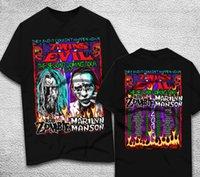 ingrosso t-shirt zombie-nuova t-shirt Marilyn Manson e Rob Zombie TOUR 2018 Taglia S - T shirt 2XL maglietta Tee Hipster O-Collo Maglietta a maniche corte T-shirt da uomo in cotone