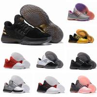 Wholesale B Grade Shoes - 2018 New James Harden Vol.1 Black History Month White Orange Gold Men's Basketball Shoes Harden 1 Low BHM Boys Grade School Sneakers