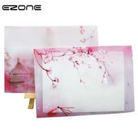 Wholesale Washing Photos - EZONE Vintage Envelope Chinese Style Ink Wash Painting Paper Photo Postcard Bookmark Card Holder Storage Envelope 5PCS Random