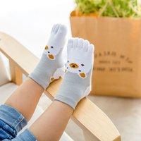 crianças meias dedos dos pés venda por atacado-Algodão engraçado Crianças Toes Meias Unisex Baby Boy Menina Bonito Meias para Meninos Animal Bonito Crianças Meia Adorável Urso Meia Curta 1-12Y