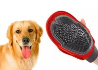 Wholesale Dog Bubbles - Cat Pet Dog fur Grooming Groom Glove Mitt Brush Comb Massage Bath Brand New big dog wash tool Bubble maker MYY