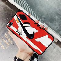 zapatos deportivos de silicona al por mayor-Funda de silicona para Iphone X 6 6plus 7 7plus 8 8plus Designer Anti-drop Funda para teléfono