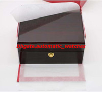 Wholesale luxury watch brand logo resale online - Factory Supplier Luxury Wristwatch Box Packaging Wooden Boxes Watch Box Cases With White Pillow May Brand LOGO