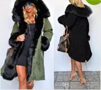 jaqueta de inverno forrada de pele feminina venda por atacado-New mulheres casacos de inverno designer de casacos reais Grande Raccoon Fur Collar grossas de algodão acolchoado Lining Ladies baixo Parkas Plus Size S-2XL