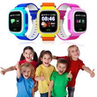 лучшие детские часы gps оптовых-Умные часы для детей Intelligente Locator Tracker Анти-потерянный пульт дистанционного управления Q80 GPRS GSM GPRS наручные часы Лучший подарок для детей, детей