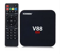 Wholesale Free Online Movies - V88 Android TV Box Rockchip 3229 Smart Boxes 4K Quad core 16.1version Full Loaded support 3D Free Movies Online Mini PC CAR