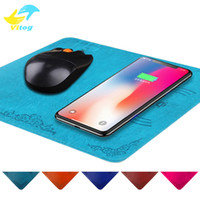Wholesale super thin mouse - QI Wireless Charger Super Thin Wireless Mobile Phone Chargers Thickness Wireless Charger Mouse Pad for iPhone X samsung S7 S8 Note 8
