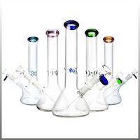 bongos de design venda por atacado-Bong Pipes Novo Design Bongos água Vidro Bongos Pyrex Bongs água com coloridos Lips 14 milímetros Joint Taça Pipes Bong água Plataformas de petróleo