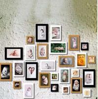 vintage bebek resimleri toptan satış-7 Adet 7 Inç Diy Kağıt Fotoğraf Çerçeveleri Resimleri Için Vintage Çerçeve Fotoğraf DIY Bebek Çerçeve Düğün Fotoğraf Duvar