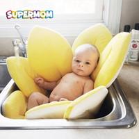 sandalyeler için bebek koltukları toptan satış-Bebek Güvenliği Küvet Mat Blooming Çiçek Koltuk Küvet Sandalye Ped Yastık Kaymaz Yenidoğan Duş Desteği Yumuşak Koltuk Örtüsü Mat