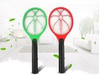 asesino de mosca eco eléctrico al por mayor-Mosquito eléctrico de mano Mosquito Swatter Zapper Bug Insecto Avispa Rechazar Control de plagas Asesino Repelente Asesino DDA496