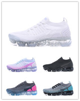 Wholesale casual male sneakers - Drop Shipping Vapormax V2 Running Shoes Men Casual Women Air Outdoor Athletic Sneakers White Male 2.0 II KPU Trainers Designer Sports Shoes