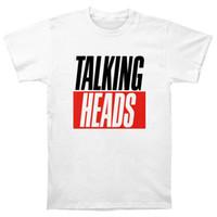 haciendo carteles al por mayor-Talking Heads T Shirt Vinyl Poster Deje de hacer sentido Hablar en lenguas 77 Cdlp Classic Tops Camisetas Camisetas básicas de manga corta