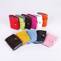 Wholesale leather buckle id card for sale - Group buy 2018 Hot Sale Bit Fashion Women Men Credit Card Holder PU Leather Buckle Unisex ID Holders Package Organizer ger