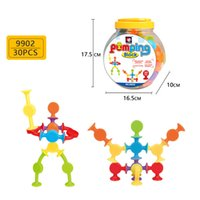 Wholesale toys construction set for sale - Group buy 30pcs set Kids DIY Silicone Building Blocks Assembled Sucker Suction Cup Construction Toy Children Intelligence toys Novelty Items AAA936