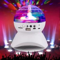 farbwechsel kristall großhandel-Bluetooth-Lautsprecher mit integrierter Lichtshow Party / Disco DJ-Bühnenstudio-Effektbeleuchtung RGB-Farbwechsel-LED-Kristallkugel
