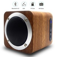 Wholesale rca computers online - B06 MINI Wireless Bluetooth Speaker Wooden Portable Bluetooth Speakers PC Computer Speaker with Enhanced Bass Reson