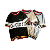 Wholesale mens v necks t shirts - Summer Mens T Shirt 2017 New Fashion Striped T Shirt Mens Clothing Trend Slim Fit Short Sleeve Casual Mens Top Tee Shirt 5XL