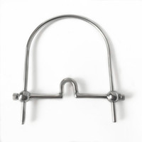 Wholesale bdsm mouth gag steel for sale - Group buy 2018 Latest Adjustable Stainless Steel Neck Ring Open Mouth Bondage Mouth Ball Gags Cangue Adult Passion Flirting BDSM Product Sex Toy