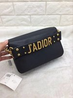Wholesale Gold Metallic Handbags - J'ADIOR handBag Calfskin Leather Carried in Hand Aged Gold-Tone Metal Jewellery come with dust bag Free Shipping