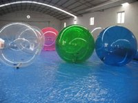 Wholesale hamster balls - Inflatable Water Walking Ball Water Rolling Ball Water Balloon Zorb Ball Inflatable Human Hamster Plastic Freeshipping Fede