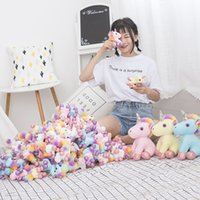 Wholesale unicorn dolls for kids for sale - Soft Color Plush Unicorn Doll Multi Size Keychain Handbag Pendant For Kids Lovely Christmas Decor bg Ww