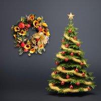 fruta de ação de graças venda por atacado-Outono Série de Girassol De Frutas Guirlanda De Flores Artificiais Para O Casamento Decoração Do Carro DIY Coroa De Flores Para O Dia De Ação De Graças