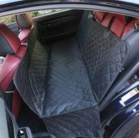 Wholesale dog back seat hammock - Pet Dog Car Back Seat Cover 137*147cm Waterproof Nonslip Mat Protector Hammock Folding Dog Seat Cushion OOA5025