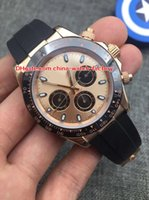 Wholesale Chronograph Rubber - 4 Color Luxury High Watch 40mm Cosmograph 116515 116615LN 18k Rose Gold No Chronograph Working Mechanical Automatic Mens Man's Watches