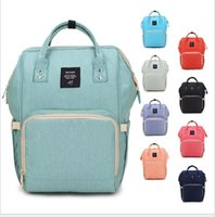 Wholesale diaper bag fabric - 18 Colors New Multifunctional Baby Diaper Backpack Mommy Changing Bag Mummy Backpack Nappy Mother Maternity Backpacks