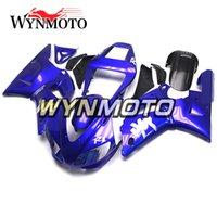 ingrosso yzf r1 blu-Carrozzeria completa per YZF1000 R1 1998 1999 98 99 Rivestimenti per motocicli Telai corpo iniezione in plastica ABS blu YZF R1 98 99 Carenature pannello