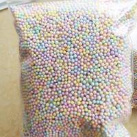 ingrosso mini artigianale luce-250 g / borsa Macarons Light Colours Pastel Foam Beads Colorful Polistirolo espanso Balls Styrofoam Mini Floam Beads Balls Crafts
